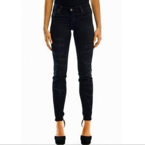 Neuw razor skinny distressed bandage jeans